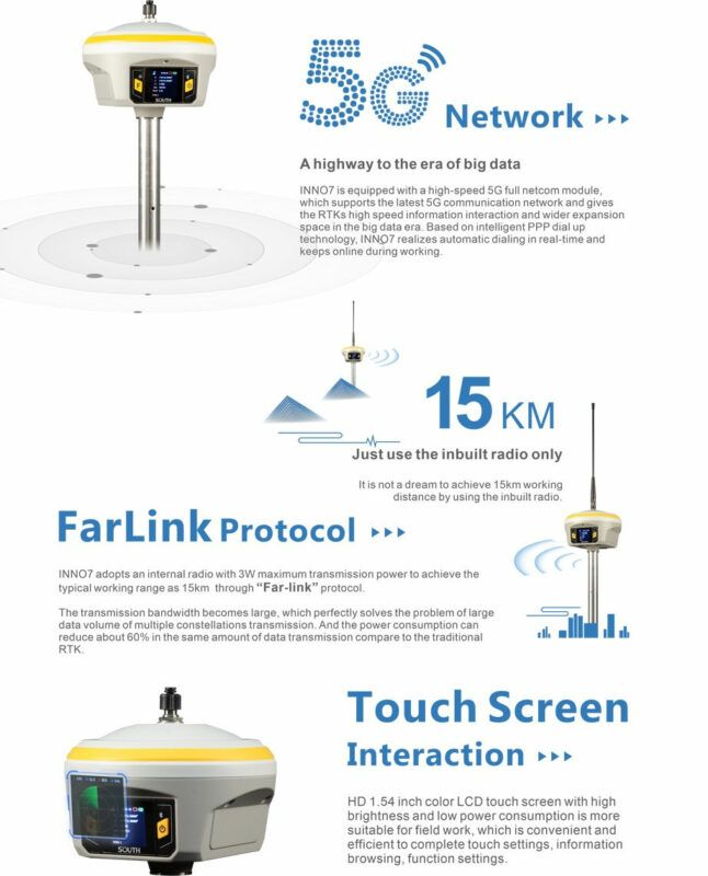 South INNO7 RTK GPS GNSS receiver