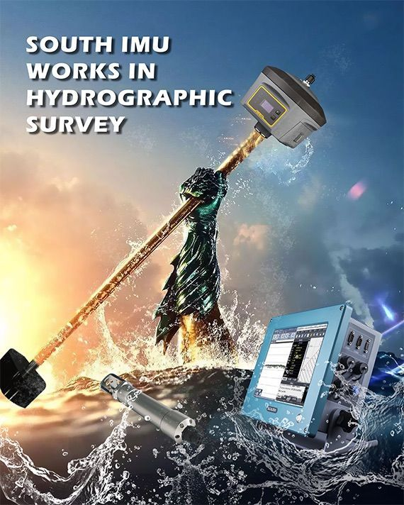 South Hydrographic surveying with SDE-260D echo sounder and Galaxy G6 rtk GPS GNSS