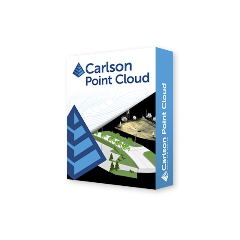 CARLSON POINT CLOUD Works with cloud data, whether from drone, scanner or lidar, in the familiar Carlson environment to create points, breaklines, surfaces and other CAD deliverables for the production of a typical plan.